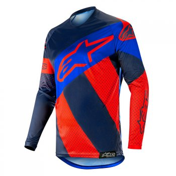ALPINESTARS Racer Tech Atomic Jersey 19 - red/dark navy/blue