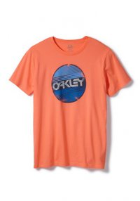 OAKLEY Factory Circle T shirt - coral glow