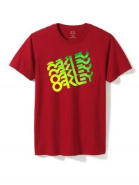 OAKLEY Quad Factory T-shirt - red line