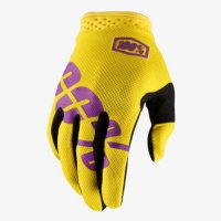 100% iTrack Gloves - yellow