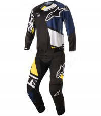 Komplet ALPINESTARS Techstar Factory black/dark blue/white/yellow 18