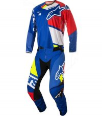 Komplet ALPINESTARS Techstar Factory blue/red/white/yellow flo 18