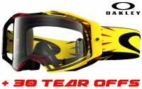 OAKLEY AIRBRAKE HIGH VOLTAGE RED/YELLOW CLEAR LENS + 30 strhávaček