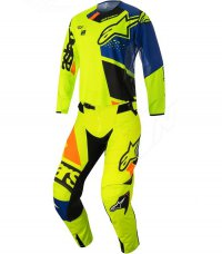 Komplet ALPINESTARS Techstar Factory yellow fluo/blue/black/orange fluo 18