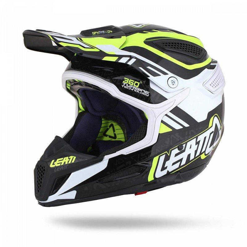 LEATT Helmet GPX 5.5 Composite V4 flo yellow/black/white