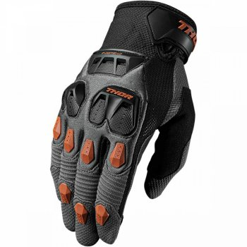 THOR Defend Glove - charcoal/dark orange