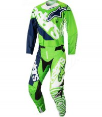 Komplet ALPINESTARS Techstar Venom green fluo/white/dark blue 18