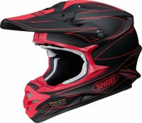 SHOEI VFX-W Hectic Helmet - black/red