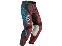 Kalhoty Fly Kinetic RS �ern�/maroon