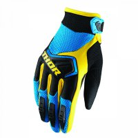THOR Spectrum Glove 18 - blue/black/yellow