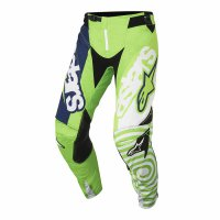 Kalhoty Alpinestars Techstar Venom green fluo/white/dark blue 18