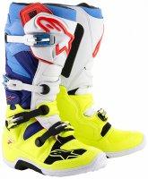Boty Alpinestars TECH 7 yellow flo white blue cyan 2cb3834d83
