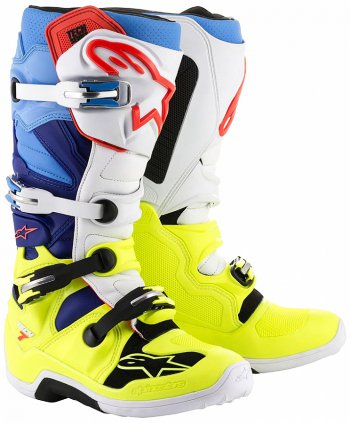 Boty Alpinestars TECH 7 yellow flo/white/blue/cyan