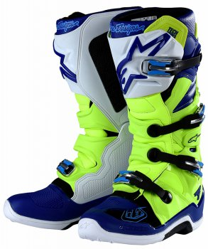Boty Alpinestars TECH 7 TLD yellow flo/blue/white