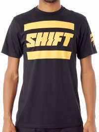 SHIFT 3Lack Label Tee - black/yellow 18
