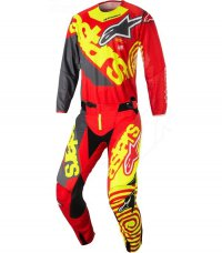 Komplet ALPINESTARS Techstar Venom red/yellow fluo/anthracite 18