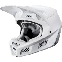 Přilba Fox V3 Solids white/silver 20