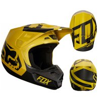 Přilba FOX V2 Preme dark/yellow 18