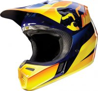 Helma Fox Racing V3 Flight Helmet Orange