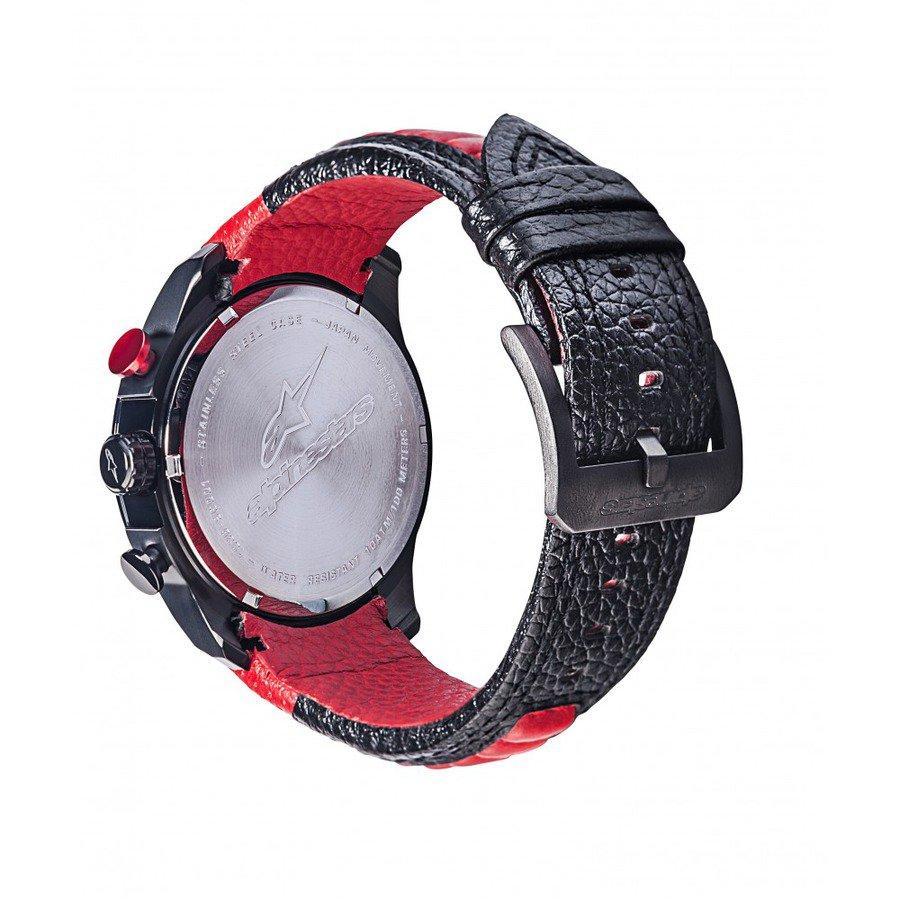 55c10efe8 hodinky TECH RACE CHRONO, ALPINESTARS - ITÁLIE (černá/červená, kožený pásek)